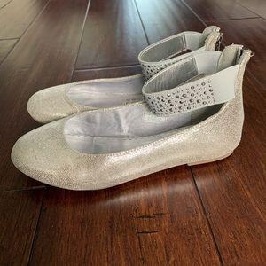 Girls Nine West Ballet Flats w/ Ankle Strap